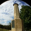 Falkirk monument seen through fish eye lens