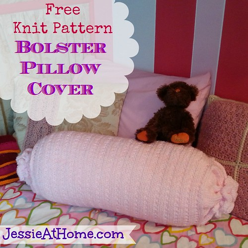 Bolster pillow cover free knit pattern jessie at home Sew bolster pillow cover