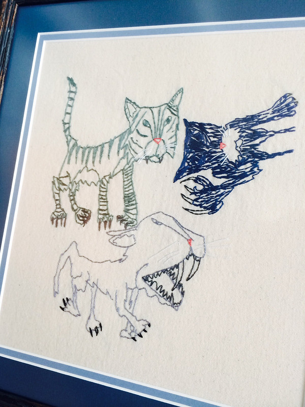 "Phoenix's Drawings: ""3 Cats"""
