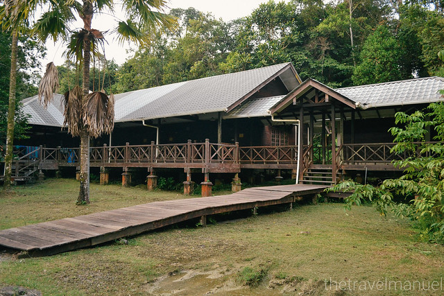 The longhouse accommodation facilities at Matang