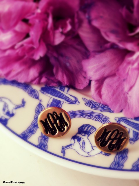 oNecklace Monogrammed Earrings from etsy