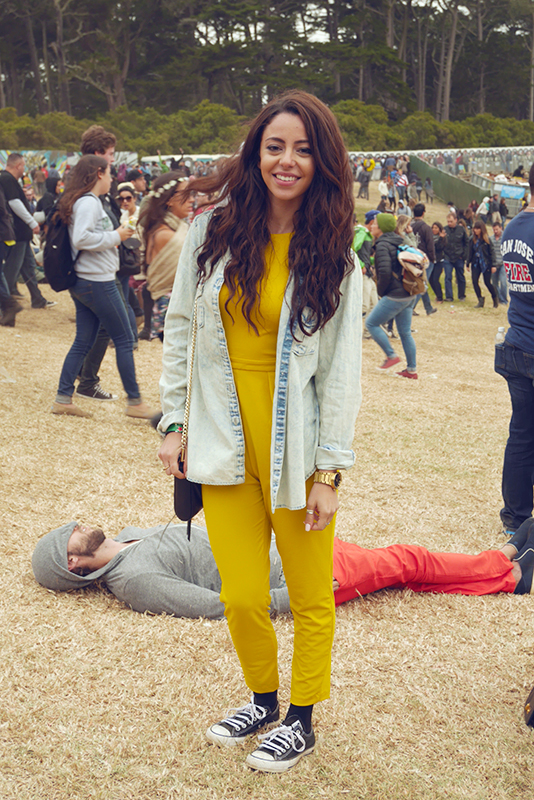 yellowjumpsuit Golden Gate Park, outside lands, Quick Shots, street fashion, street style, women
