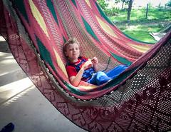Eating cookies in a hammock