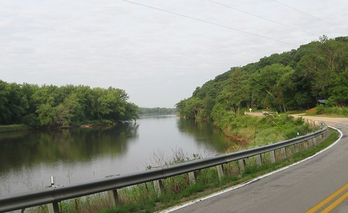 Wisconsin River from Hwy. 60, between Gotham and Orion