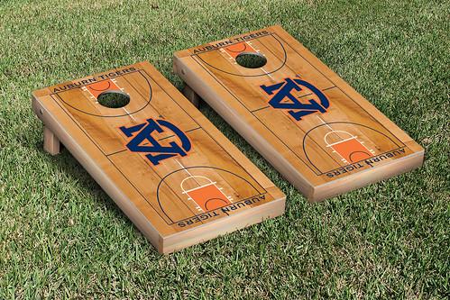 Auburn University Tigers Basketball Court Cornhole Board