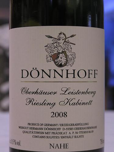 Hermann Dönnhoff 2008 Oberhäuser Leistenberg Riesling Kabinett