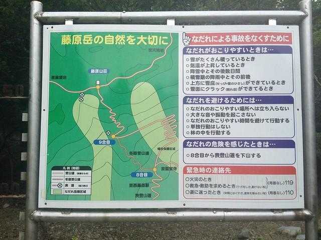 藤原岳 八合目 周辺案内図