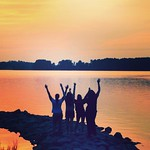 Desousa Brent Scholars enjoy the St. Mary's sunset during the Summer Bridge Program.