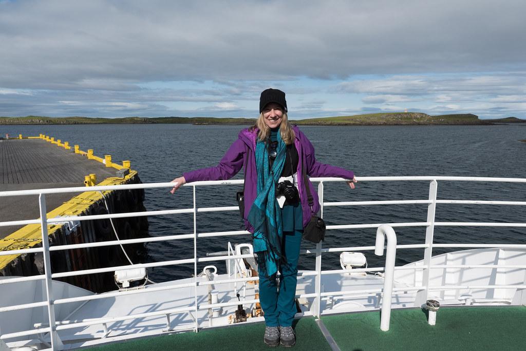 Cynthia On A Boat