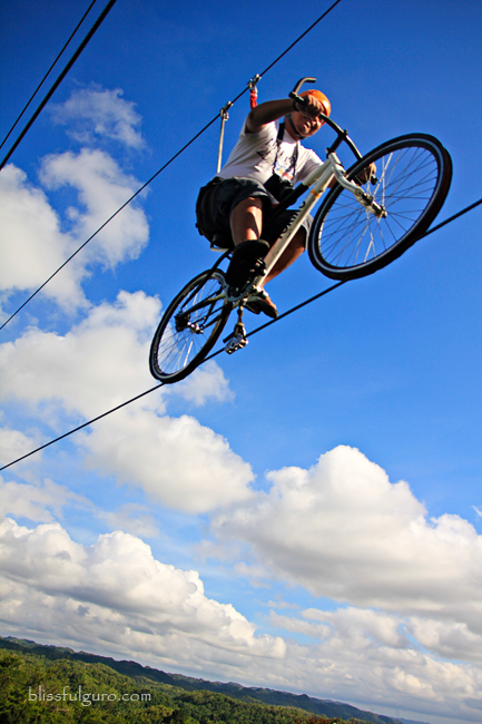 Bike Zip Line at the Chocolate Hills Adventure Park (CHAP)