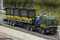 DAF CF 6x4 with 3 Axle Flatbed Trailer - NX57 HJA - 346 - Swain - M1 J10 Luton - Steven Gray - IMG_0617