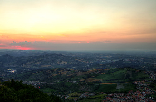 travel light sunset italy sun clouds landscape san view marino
