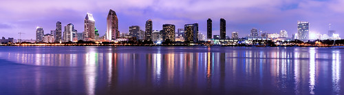 california sea urban panorama beach skyline modern buildings evening coast twilight architechture downtown cityscape sandiego shore tall nightscene coronado hugin a7r sonnartfe55mmf18