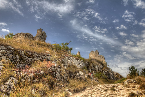 summer sky clouds ruins day village sunny ground medieval borgo medievale hdr rocca rovine calascio