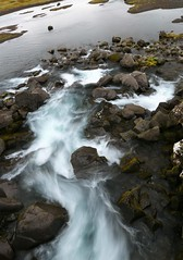 Iceland pure water flowing