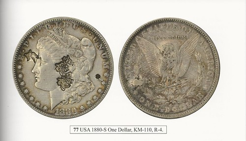 Chopmarked Morgan Dollar from Chopmarks A History Page 87 Top