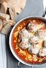 Skillet Baked Chicken Parmesan Meatballs
