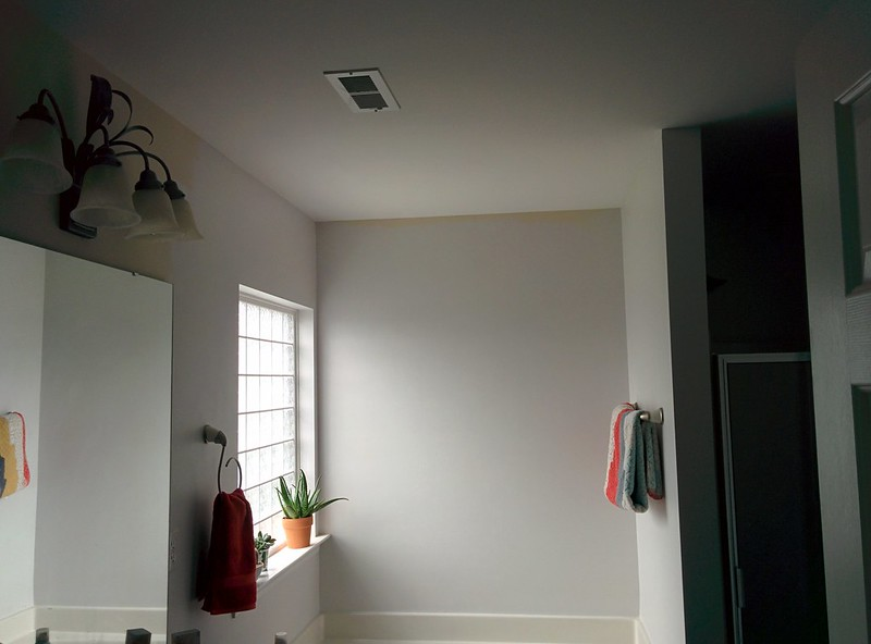 Master bathroom update 1 the color shape for American white benjamin moore