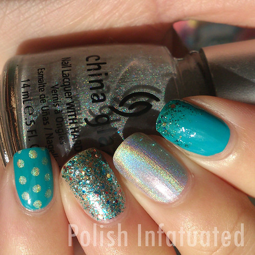 teal and holo