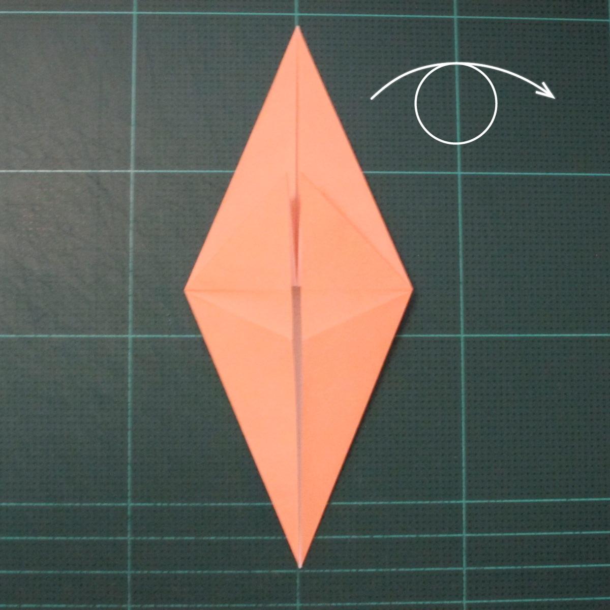 วิธีพับกระดาษเป็นรูปปลาโลมาแบบง่าย (Easy Origami Dolphin) 005