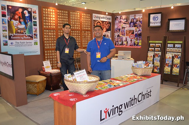 Living with Christ exhibit booth