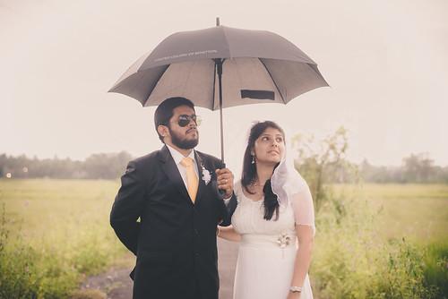 Priya & Lovell on their wedding day.