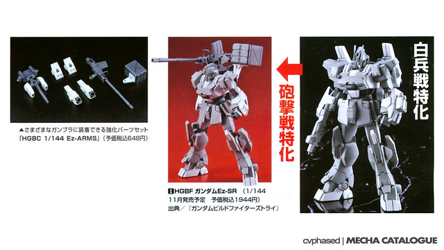 HGBF Gundam Ez-SR + HGBC Ez-ARMS