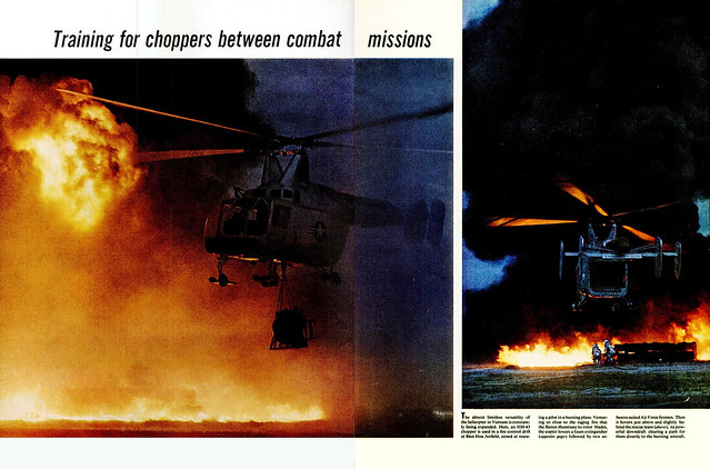LIFE Magazine  9 Sept 1966 (4) - Training for choppers between combat missions