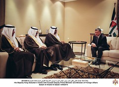 جلالة الملك عبدالله الثاني يلتقي نائب رئيس مجلس الوزراء ووزير الخارجية الكويتي صباح الخالد الصباح
