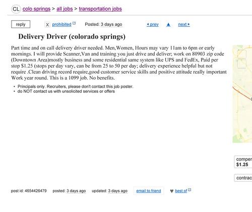 Craigslist Post In Colorado Springs, Colorado