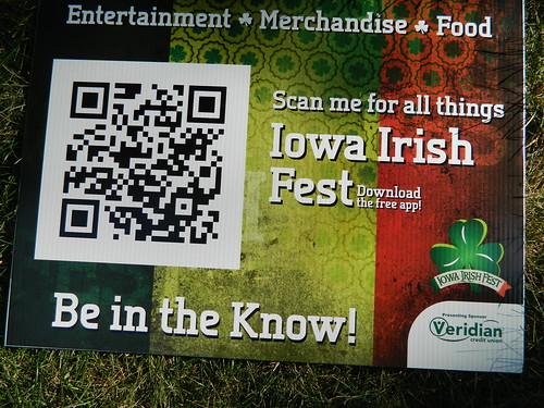 Iowa Irish Fest sign 2