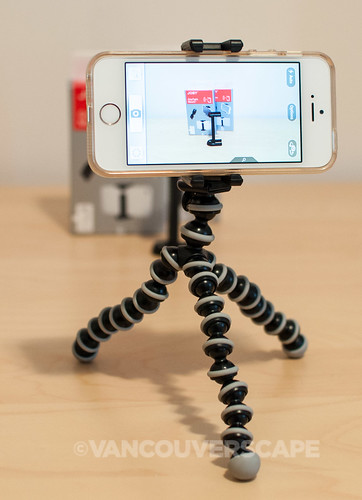Working with JOBY GorillaPod and GorillaCam iPhone app