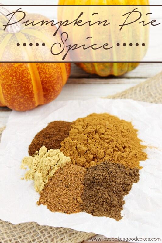 Pumpkin Pie Spice ingredients.