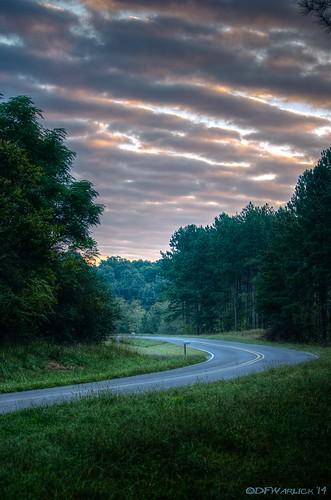 road sunrise nikon hdr lightroom mosslake photomatix