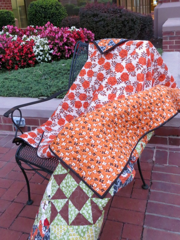 Hourglass Quilt back
