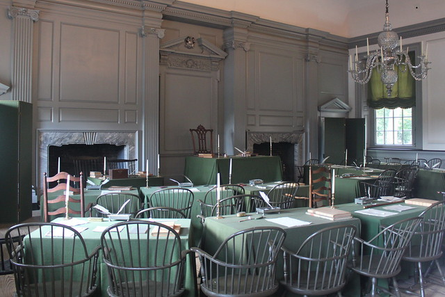Signing room in Independence Hall