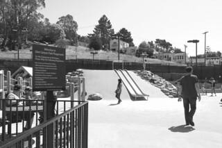 Glen Park Recreational Center - Playground slides