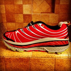 There's no denying that the Hoka is a weird looking shoe.