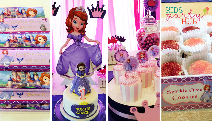 Sofia the First Cake and Cupcakes