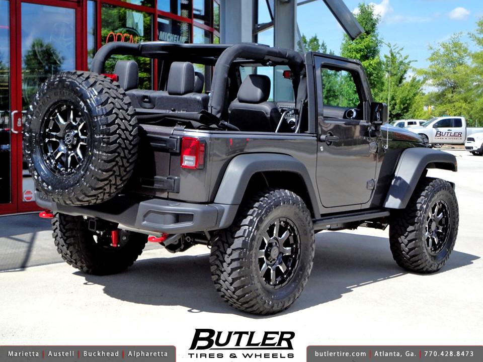 Jeep Wrangler Rubicon With 18in Black Rhino Sierra Wheels