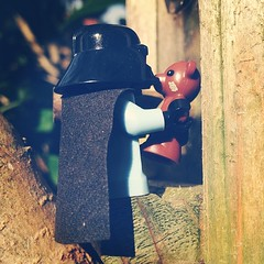 A kiss? #lego #teddy #simpson #darth #starwars #mashup