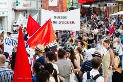 Manifestation pour le droit des migrant-e-s