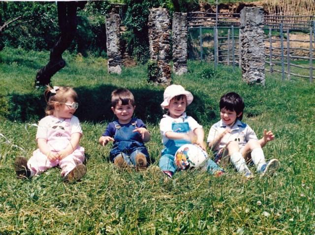 Elisa, Daniele, Irene, Alan, i 4 pulcini