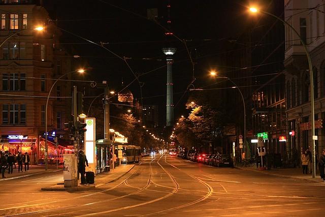 Oranienburger Strasse at Friedrichstrasse, Spandauer Vorstadt, Berlin Mitte, Germany
