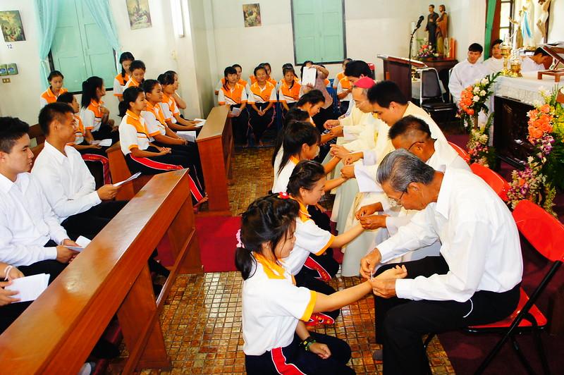 มิสซาขอพรเปิดปีการศึกษา 2014