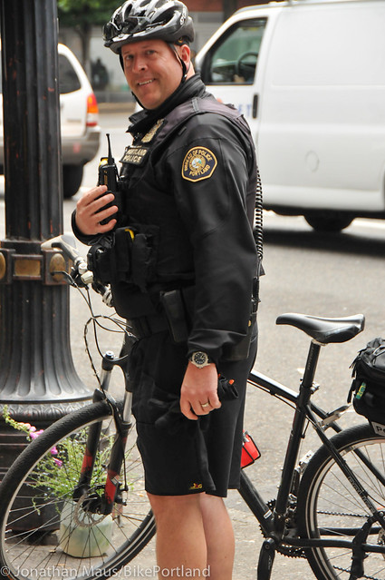 PPB Police Chief Mike Reese on bike patrol-4