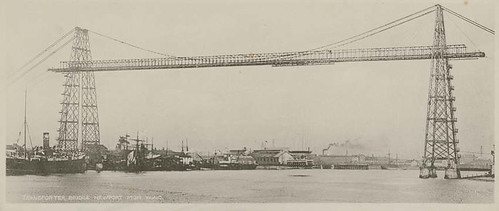 Newport transporter bridge, 1906