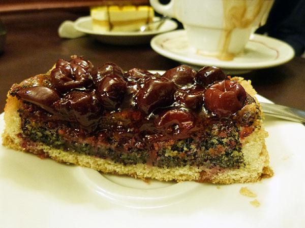 gâteau pavot-cerise