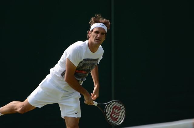 Federer service motion