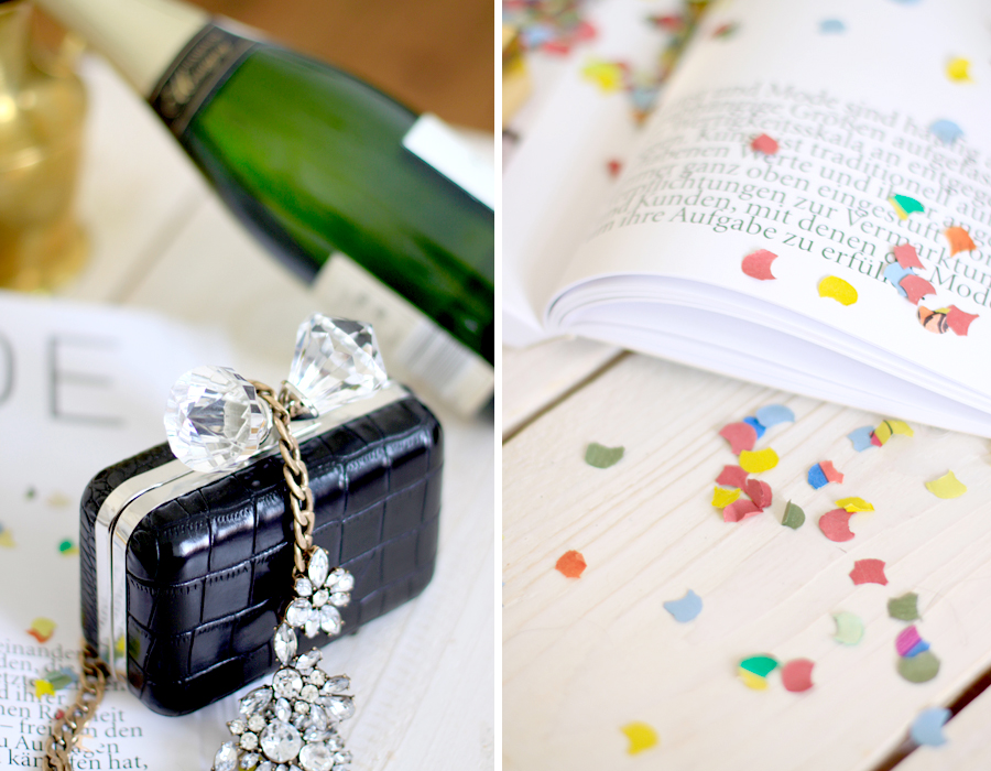 Celebrating the new CATS & DOGS layout look style webdesign confetti party veuve cliquot champagne Ricarda Schernus fashion blogger berlin 1